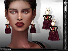 Sims 4 — MFS Shay Earrings by MissFortune — NEw Mesh - Standalone - 7 Colors
