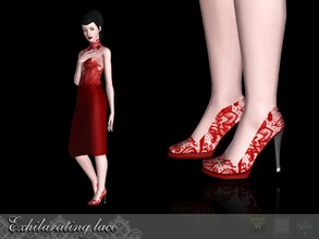 Sims 3 — Exhilarating lace Shoes by Shushilda2 — - EA mesh (new UVMap) - 4 recolorable channels - CAS and Launcher icons