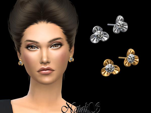 NataliS Diamond flower earrings
