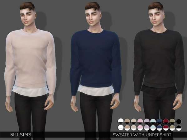 Sweater With Undershirt