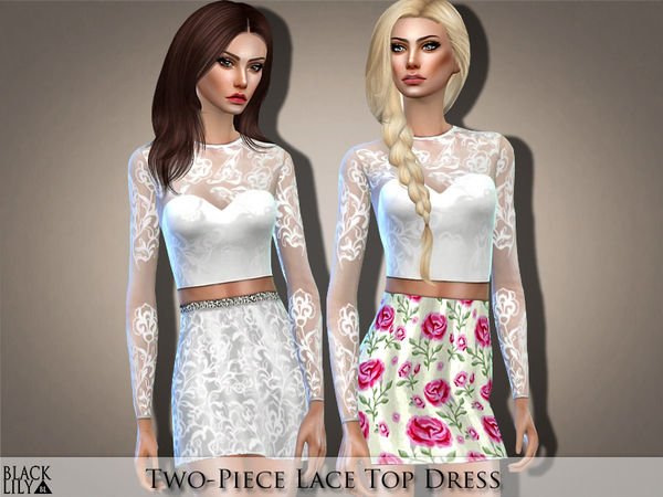 Two Piece Lace Top Dress