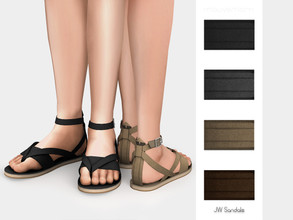 Sims 4 — JW Sandals by mauvemorn — Thong strap sandals. Read creator notes for more details.