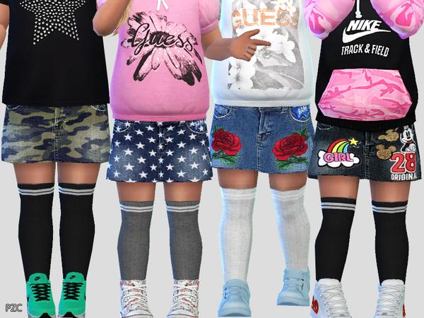 Toddler Denim Jeans Skirt 03
