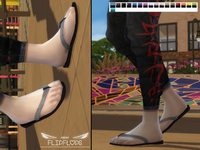 Sims 4 — Flip Flops by Nisuki — Simple flipflops for your male sims!