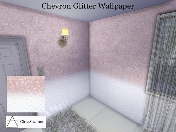Chevron Glitter Wallpaper