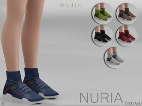Sims 4 — Madlen Nuria Shoes by MJ95 — Mesh modifying: Not allowed. Recolouring: Allowed. (Please add original link in the