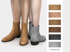 Sims 4 — JH Chelsea Boots by mauvemorn — Leather chelsea ankle boots. Read creator notes for more details.