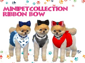 Sims 4 — Minipet Ribbon Bow Collection by chuvadeprata2 — Ribbon Bow for any occasion.