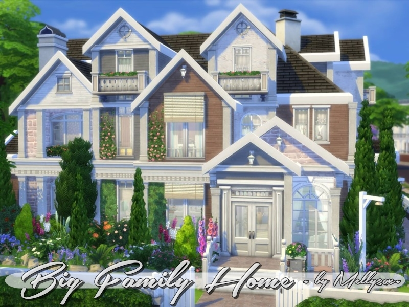 Big family home no cc made by melly20x for Big family house