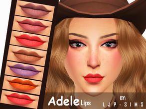 Sims 4 — Adele Lips by LJP-Sims — -With 7 natural colour -With Custom thumbnail -For female adult -CAS categories