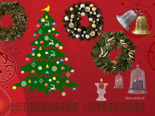 Potterybarn Christmas Decor Set