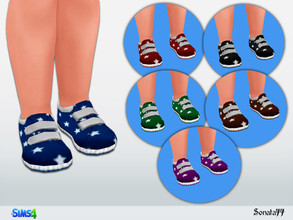 Sims 4 — S77 toddler 26 by Sonata77 — Shoes for toddler. Base game. New item. 6 colors.