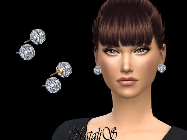 NataliS Disco ball stud earrings
