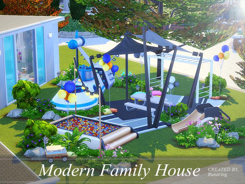 Runaring S Modern Family House No Cc
