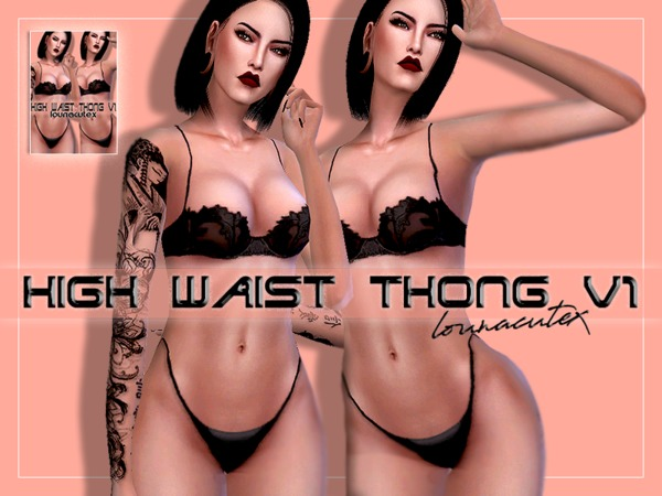 High Waist Thong   Lounacutex