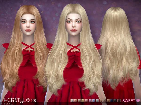 sclub ts4 hair Half Bun n28