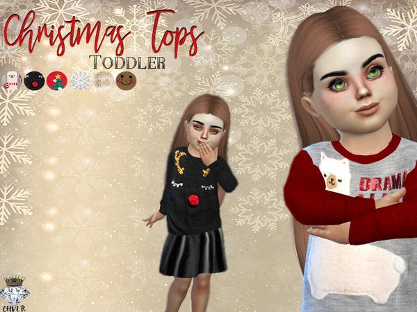 Toddler Christmas Tops  / CHVLR
