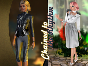 Sims 3 — Chained to the Rhythm by Kiolometro — Chained to the Rhythm. White dress and sport suit. For young adult sims.