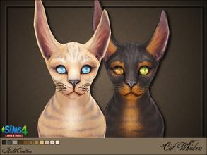 Sims 4 — Cat Whiskers by MahoCreations — 11 colors sorry, no thumbnail to find in whiskers requires Cats and Dogs EP