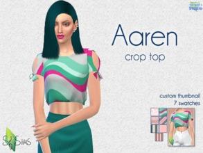 2bd30b413c0f Aaren crop top - SF Sims - Mesh.