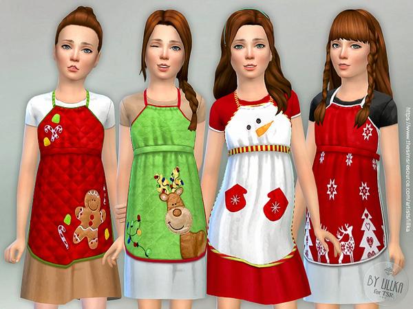 Christmas Apron for Girls