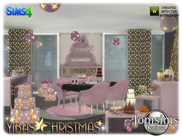 Yibas christmas dining room