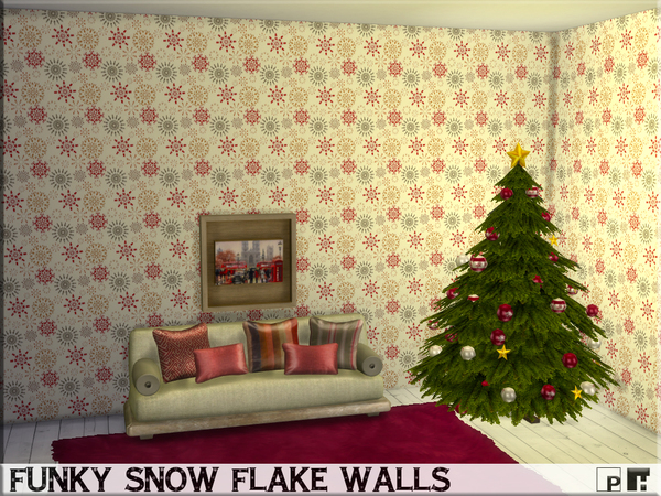 Funky Snowflake Walls