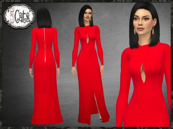 ZM Cady Front Slit Gown