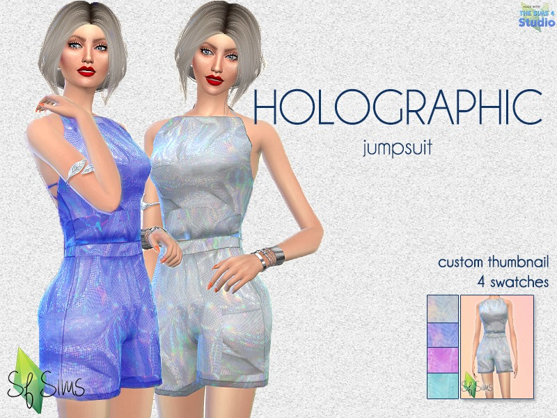 9ca2a7ce47d4 SFSims  HOLOGRAPHIC jumpsuit - SF Sims - Mesh needed