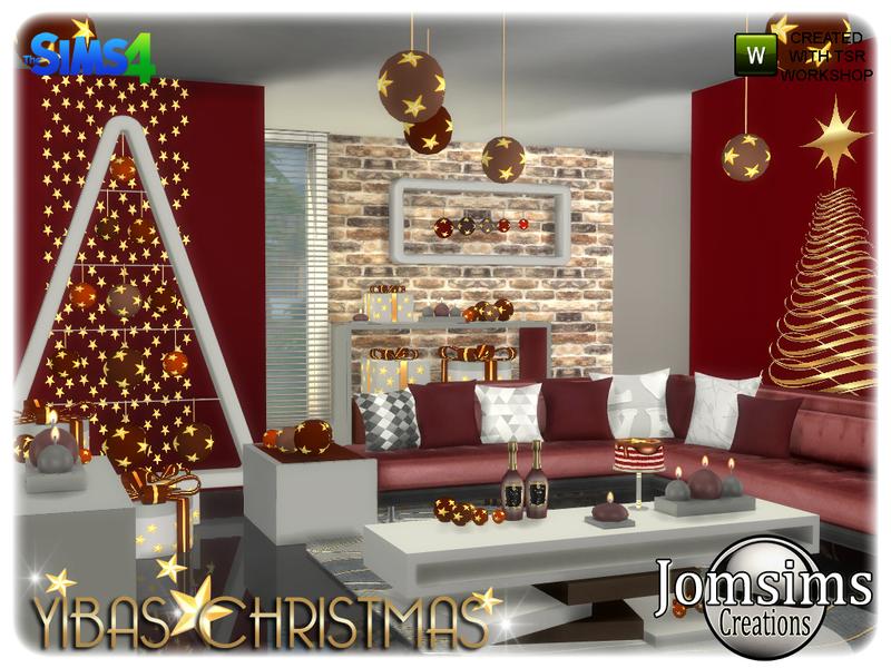 christmas living room.  jomsims Yibas christmas living room