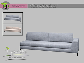 Sims 4 — Amber Sofa - Right by NynaeveDesign — Amber Living Room - Sofa Right Located in: Comfort - Sofas Price: 1390