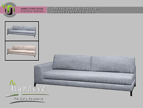 Sims 4 — Amber Sofa - Left by NynaeveDesign — Amber Living Room - Sofa Left Located in: Comfort - Sofas Price: 1390
