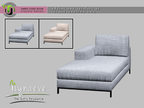 Sims 4 — Amber Loveseat - Right by NynaeveDesign — Amber Living Room - Loveseat Right Located in: Comfort - Loveseats