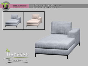 Sims 4 — Amber Loveseat - Left by NynaeveDesign — Amber Living Room - Loveseat Left Located in: Comfort - Loveseats