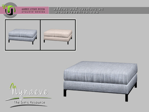 Sims 4 — Amber Ottoman by NynaeveDesign — Amber Living Room - Ottoman Located in: Comfort - Living Chairs Price: 539