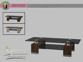Sims 4 — Amber Coffee Table by NynaeveDesign — Amber Living Room - Coffee Table Located in: Surfaces - Coffee Tables