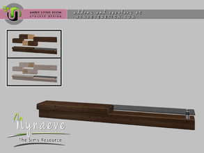 Sims 4 — Amber TV Stand by NynaeveDesign — Amber Living Room - TV Stand Located in: Surfaces - Coffee Tables Price: 239