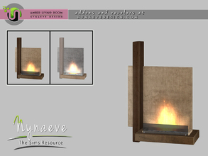 Sims 4 — Amber Fireplace by NynaeveDesign — Amber Living Room - Fireplace Located in: Decor - Fireplaces Price: 539