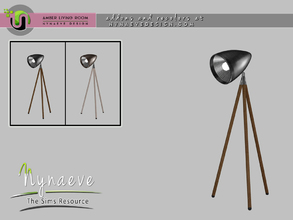 Sims 4 — Amber Floor Lamp by NynaeveDesign — Amber Living Room - Floor Lamp Located in: Lighting - Floor Lamps Price: 139