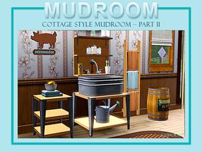 Cottage Style Mudroom Sink