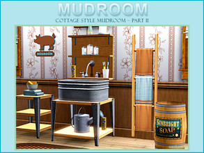 Sims 3 — Style Mudroom Part II by Cashcraft — Cottage Style Mudroom Part II, features a large garden style sink, utility