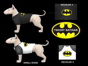 Sims 4 — tshirt batman small dogs by maridesims4 — Mesh included by EAGames Cats and dogs TOU: Plis dont re-upload and