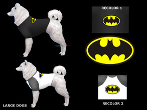 Sims 4 — Tshirt batman large dogs by maridesims4 — Mesh included by EAGames TOU: Plis dont re-upload and claim as your
