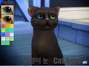 Sims 4 — Cat eyes v01 by SooBi — New color swatches. Cat eye category. 14 color They do not replace the EA originals,