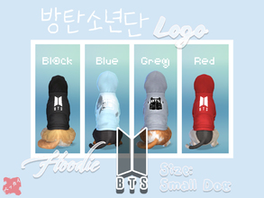 Sims 4 — BTS Logo Dog Hoodie Small by BeccAi — Hoodies for all the big BTS fans in small wrapping! :)