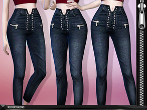 Sims 4 — MFS Leanna Jeans by MissFortune — Standalone - Custom thumbnail - 6 Colors