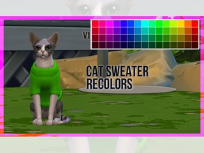 Sims 4 — Cat Sweater Recolor V1 by mayrez — This is the Cats and Dogs sweater for cats recolored. Pick and choose as many