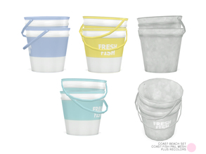 Sims 4 — Coast Fish Pail Mesh by DOT — Coast Fish Pail Mesh by DOT of The Sims Resource