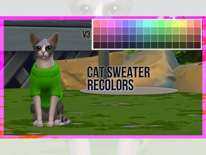 Sims 4 — Cat Sweater Recolor V3 by mayrez — This is the Cats and Dogs sweater for cats recolored. Pick and choose as many