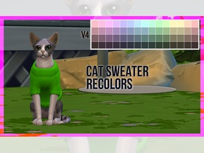 Sims 4 — Cat Sweater Recolor V4 by mayrez — This is the Cats and Dogs sweater for cats recolored. Pick and choose as many